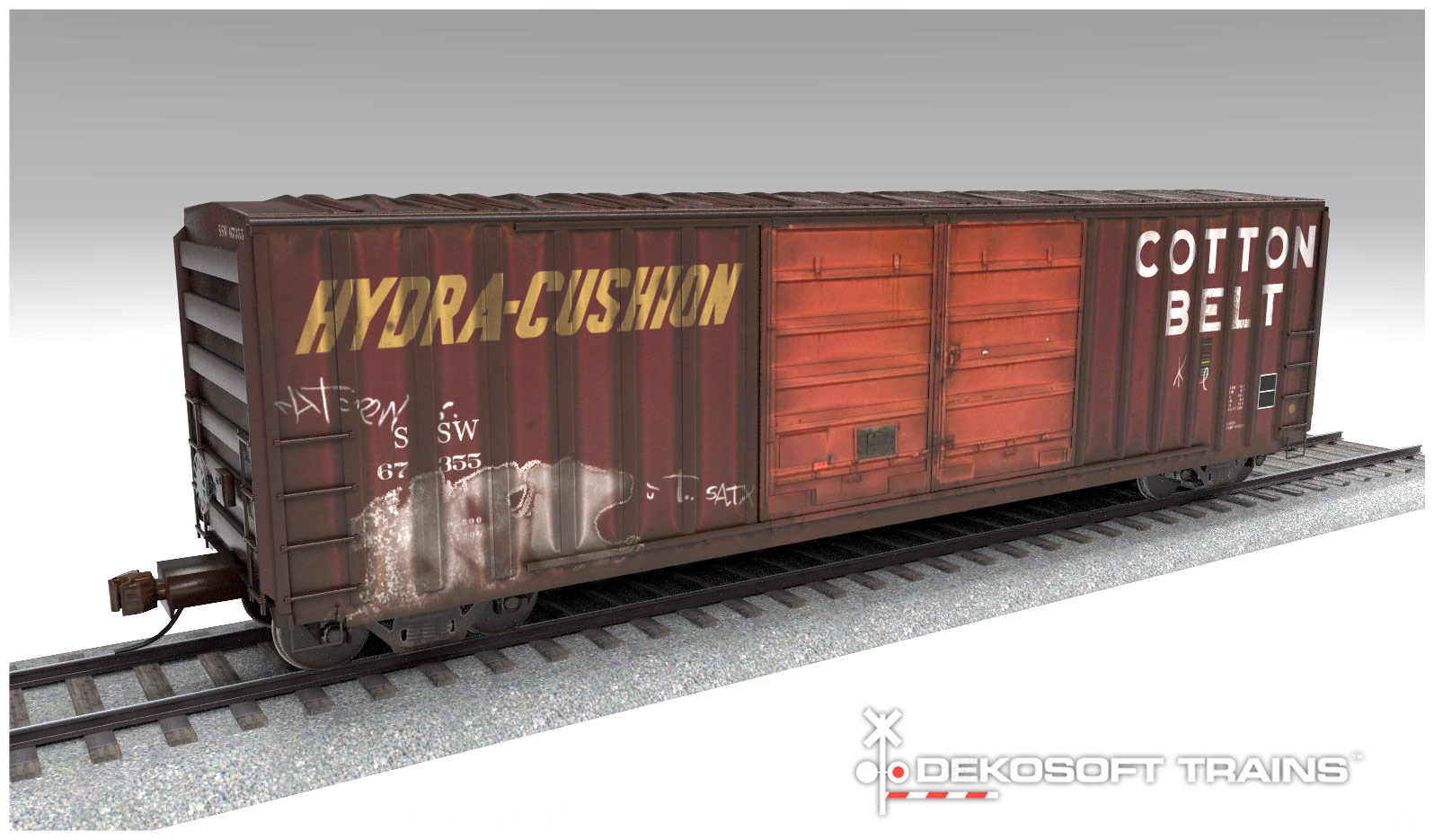 50' double-door boxcar